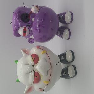 Vintage Halloween Bobble head set
